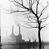 Battersea Power Station, London, 1955