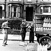 A milkman on his rounds in London, c1950s