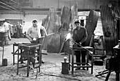 Powell's Glassworks, London, 1955