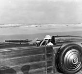Henry Segrave driving the Golden Arrow, Florida, USA, 1929