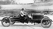 Miss Dorothy Levitt, in a 26hp Napier, Brooklands, 1908