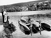 Bluebird K7 at Coniston Water, Cumbria, 1958