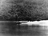 Bluebird on Coniston Water, Cumbria, November 1958