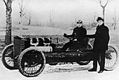 Barney Oldfield and Henry Ford with Ford '999', 1902
