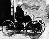 Henry Ford on a 1896 Ford