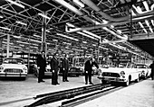 Ford production line, Genk factory, Belgium, early 1960s