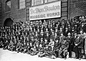 Workers outside the British De Dion Bouton works, 1920s