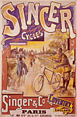 Poster advertising Singer bicycles