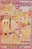 Poster advertising Carmen bicycles