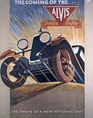 Poster advertising Alvis cars, 1930