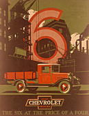 Poster advertising Chevrolet trucks
