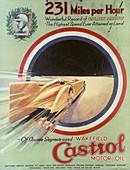 Poster advertising Castrol motor oil