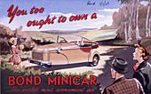 Poster advertising a Bond Minicar, 1951