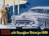 Poster advertising a Buick, 1952