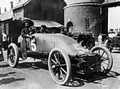 Pipe car driven by Lucien Hautvast, Belgium, 1904