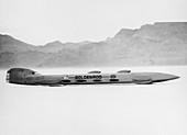 Goldenrod' Land Speed Record attempt car, Utah, USA, 1965