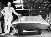 John Cobb with the Railton Special, 1938