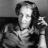 Hannah Arendt, German-American political scientist, c1963