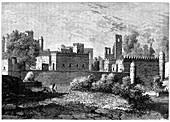 Royal palace at Gondar, ancient capital of Abyssinia, c1890