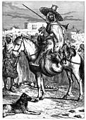 An Arab merchant at Tlemcen, Algeria, c1890