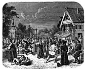A village fete in Russia, c1890
