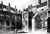 Cloister Court, St Stephen's Chapel, Westminster, 1834