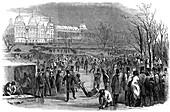 Skating in Regent's Park, 1850