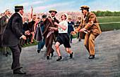 Dorando Pietri, first modern Olympic marathon, London, 1908