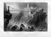 Bridge to the South Stack Lighthouse, near Holyhead, 1886