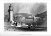 Whitehaven Harbour, Cumbria, 1886