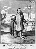 A Nisovian Tunguzian in his Winter Habit', c18th century