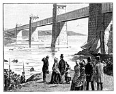 Queen's visit to the Britannia Tubular Bridge, Wales, c1888