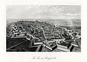 The town and fortress of Lille, France, 1875