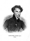 Alexandre Dumas the Elder, French novelist and playwright