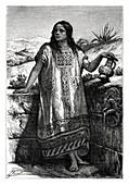 Toltec girl, Mexico, 19th century
