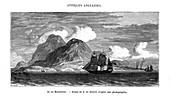 The island of Montserrat in the Caribbean Sea, 19th century