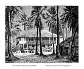 Tropical building, Port-au-Prince, Haiti, 19th century