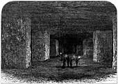 Marston Salt Mine, Northwich, Cheshire, England, c1880