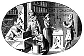 French druggist and grocer, 16th century