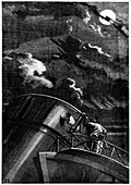 Illustration from De la Terre a la Lune by Jules Verne, 1865