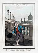 A Poor Sweep, Sir!', Blackfriars Bridge, London, 1805