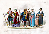 Georgian, Circassian and Armenian Races', 1873