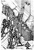 Laying siege canon on target, 1620