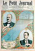 Opening of telegraph link between Paris and Casablanca, 1907