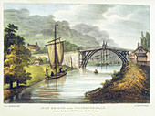 Iron bridge across the Severn, Coalbrookdale, England
