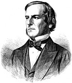 George Boole, English mathematician and logician, 1865
