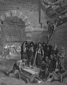 Men taking a break, Lambeth Gasworks, 1872