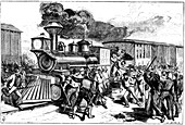 Riot by railway workers, Baltimore and Ohio Railroad, 1877