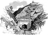Kingwood Tunnel through the Alleghany Mountains, 1861
