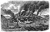 General view of Pittsburgh, Pennsylvania, USA, 1833